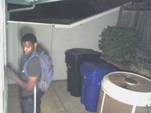 Unknown burglary suspect.